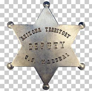 American Frontier Badge Arizona US Deputy Marshal United States Marshals Service PNG