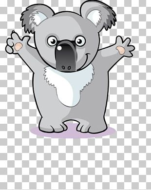 Koala Cartoon Illustration PNG