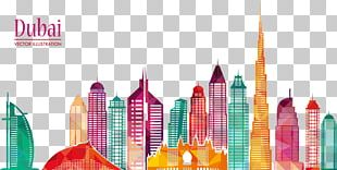 Burj Khalifa Skyline Skyscraper Illustration PNG