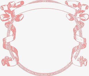 Pink Ribbon Frame PNG