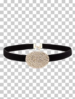 Bracelet Earring Choker Silver Necklace PNG