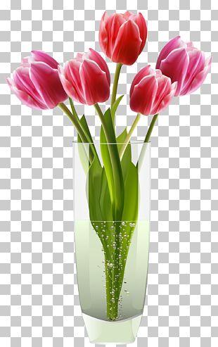 Tulip Vase Tulip Vase Flower PNG