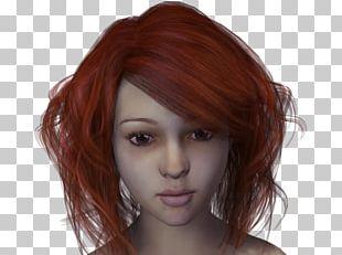 Red Hair Hair Coloring Bangs Brown Hair PNG