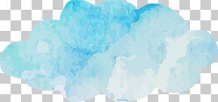 Blue Sky Cloud Turquoise Font PNG