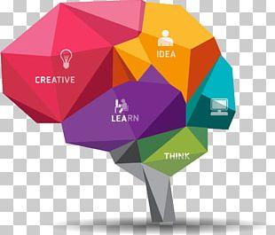 Brain Polygon Illustration PNG