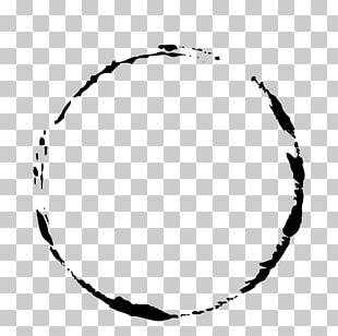 Simple Black Ink Circle PNG