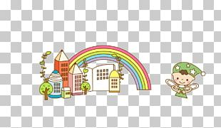 Pencil Tree Rainbow PNG