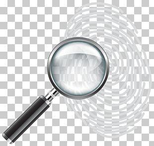 Magnifying Glass Fingerprint PNG