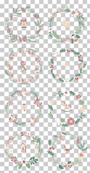 Christmas Garland Wreath New Year PNG