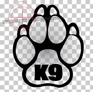Police Dog Paw Decal PNG