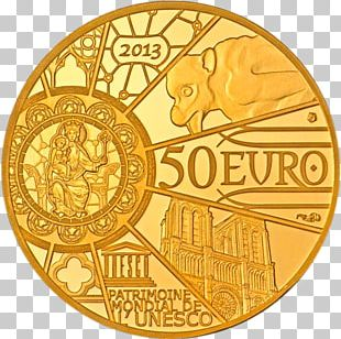 Notre-Dame De Paris Monnaie De Paris Gold Coin Cathedral PNG