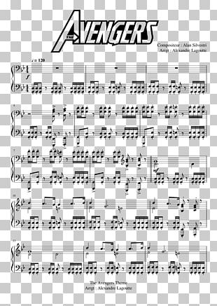 Sheet Music Piano The Avengers Musical Note Composer PNG
