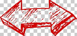 Double Red Arrow Doodle PNG