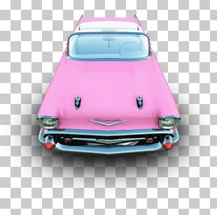 Pink Classic Car Automotive Exterior Compact Car PNG