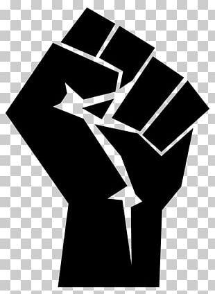 Raised Fist Thumb Signal PNG