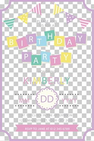 Birthday Paper Wedding Invitation Party Gift PNG