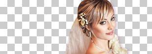 Long Hair Blond Bangs Headpiece PNG