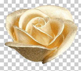 Garden Roses Flower Gold PNG