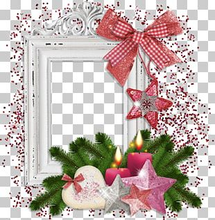 Frames Christmas Ornament Ansichtkaart New Year PNG