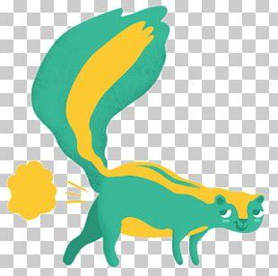 Cartoon Skunk Illustration PNG