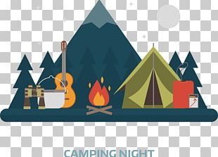 Camping Flat Design PNG