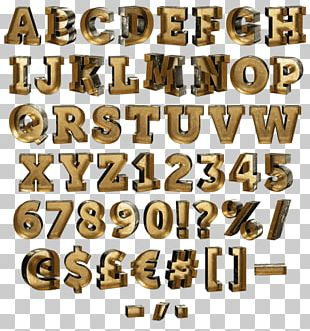 Gold As An Investment Typeface Alphabet Font PNG