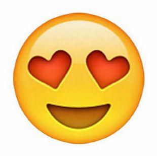 Emoji Heart Eye Smiley Face PNG
