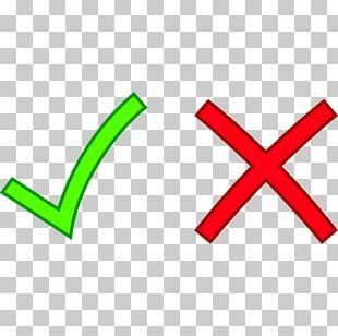 Check Mark Cross X Mark Computer Icons PNG