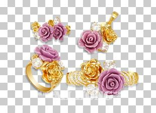 Garden Roses Cut Flowers Body Jewellery Petal PNG
