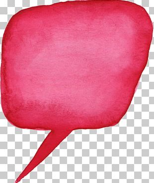 Speech Balloon Bubble Watercolor Painting PNG