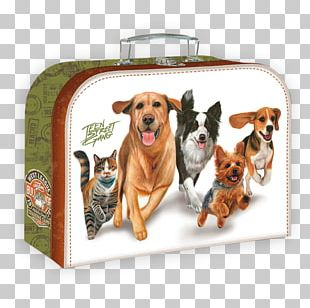 Briefcase Gang Dog Breed School Exercise Book PNG