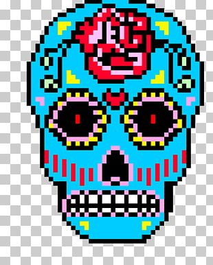 Calavera Bead Skull Day Of The Dead Cross-stitch PNG