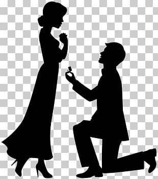 Marriage Proposal Drawing Engagement PNG