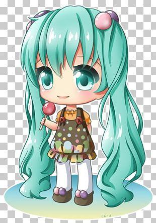 Chibi Drawing Anime Hatsune Miku PNG