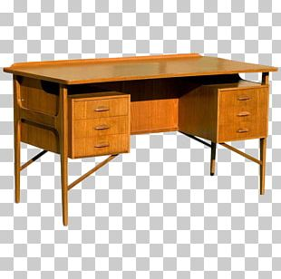 Desk Table Danish Modern Furniture Mid-century Modern PNG