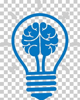 Incandescent Light Bulb Brain Icon PNG