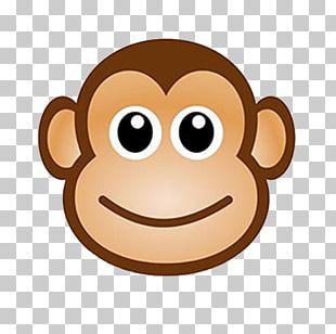 Monkey Cartoon Drawing Chimpanzee PNG