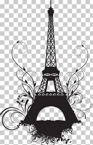 Eiffel Tower Champ De Mars Wall Decal PNG