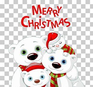 Baby Polar Bears Christmas PNG
