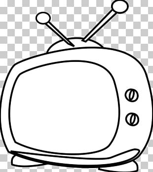 Television Cartoon Black And White PNG