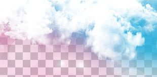 Sky Blue Cloud White PNG