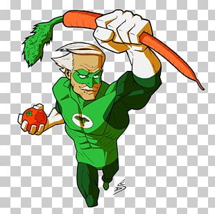 Vegetable Superhero Eating Food PNG