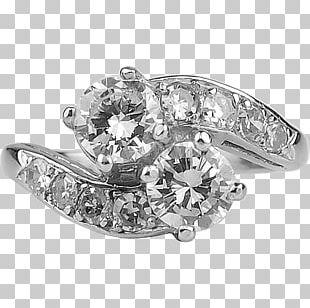 Earring Engagement Ring Wedding Ring Diamond PNG