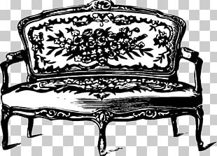 Table Chair Couch Furniture Davenport PNG