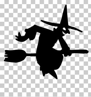 Witchcraft Silhouette Halloween PNG