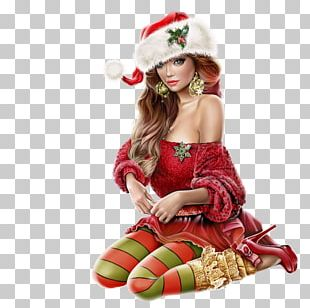 Mrs. Claus Christmas Ornament Woman Santa Claus PNG