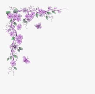 Purple Flowers Corner PNG