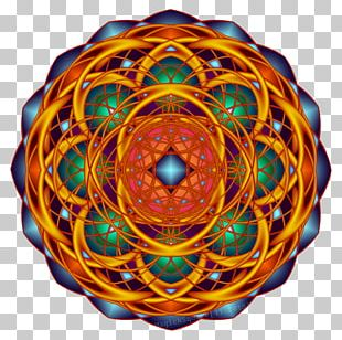 Mandala Sacred Geometry Fractal Rangoli Overlapping Circles Grid PNG