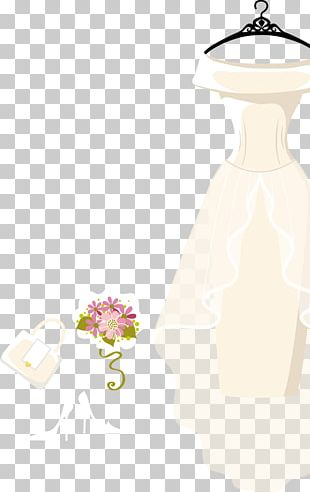 White Contemporary Western Wedding Dress PNG