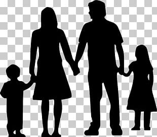 Nuclear Family Silhouette PNG